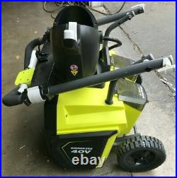 Ryobi RY40805 40V Brushless 20 in. Cordless Electric Single Stage Snow Blower, VG