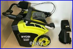 Ryobi RY40806 21 in. 40V Brushless Cordless Snow Blower, GR