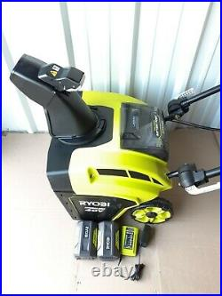 Ryobi RY40806 Cordless Brushless 40v 21 Snow Blower With2 5Ah Batteries & Charge