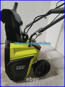 Ryobi RY40850 20 Inch 40 V Brushless Cordless Snow Blower with 5Ah Battery/Charg