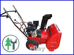 Schneefräse Snowpower 656 Handstart mit Radantrieb 6,5 PS Benzinmotor