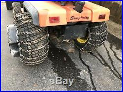 Simplicity Sunststar 20 Hydo With 48 2 Stage Snowblower. BEAST