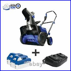 Snow Joe 48-Volt Cordless Snow Blower 15-Inch 2 x 4.0-Ah Batteries & Charger