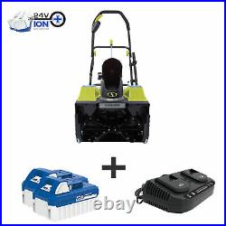 Snow Joe 48-Volt Cordless Snow Blower 18-Inch 2 x 4.0-Ah Batteries & Charger