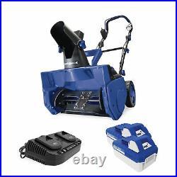 Snow Joe 48-Volt Cordless Snow Blower 2 x 4.0-Ah Batteries + Dual Port Charger
