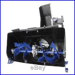 Snow Joe Cordless Two Stage Snow Blower 24-Inch 80 V 4-Speed Headlights