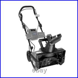 Snow Joe ION18SB 18 in. 40-Volt Cordless Snow Blower withBattery & Charger Gray