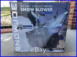 Snow Joe iON21SB-Pro 21 40 Volt Cordless Snow Thrower or Blower 40V READ