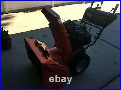 Snow blower Ariens 11528 gas powered 28 w plow orange good condition