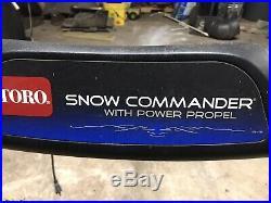 TORO SNOW COMMANDER 24 Width R. TEK Engine High Output SNOW BLOWER 2 stroke en