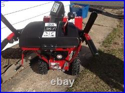 TROY-BILT 2410 SNOW BLOWER 24 TWO-STAGE ELECTRIC START. 3 Months Old