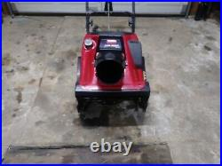 Toro 20 inch single stage snow blower ccr3650 with electric start 144cc 2 stroke