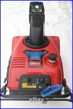 Toro 421QE Electric start 21 Power Clear 163cc single stage snow blower