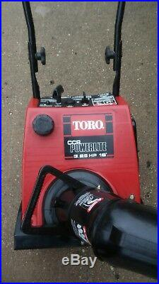 Toro Powerlite 3.25 hp electric start snowblower snow blower