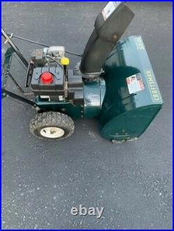 Used craftsman 24 snow blower 2 stage 5hp electric start & owners manual