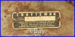 Vintage Sears Craftsman Homco Driftbreaker Snowblower 1950s # 536-82125 RARE