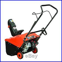 YARDMAX YB4628 Single Stage Snow Thrower, 87cc, 18 snow blower