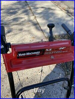 Yard Machines 24, 2-Stage Snowblower, 5.5 HP Tecumseh, Self-propel, Elec Start