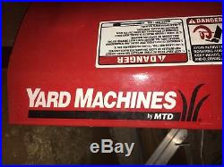 Yard Machines 31AS63EE700 208cc snowblower 2 stage yard machine electric start