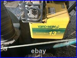 Yardman mtd 33 snowblower, 13hp tecumseh engine, dual stage, electric start